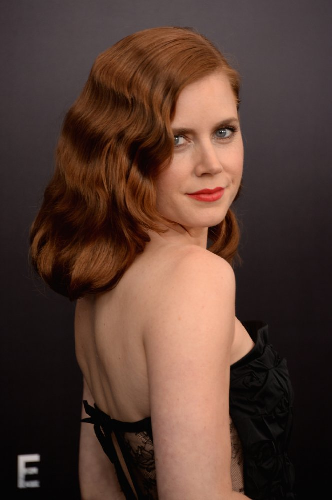 Amy Adams in shoulder-less dress
