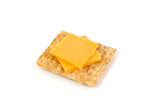 cheese on a cracker