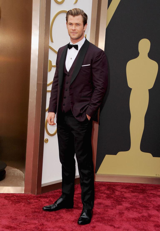 Chris Hemsworth at the Oscars