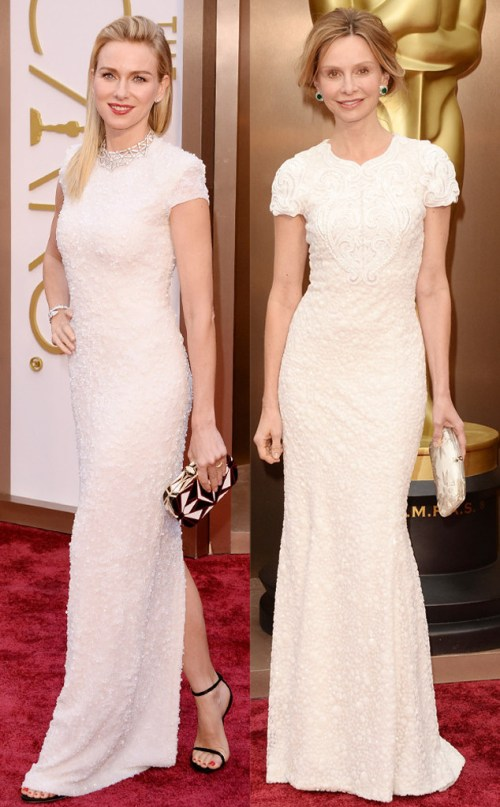 naomi watts and calista flockhart same Oscar dress