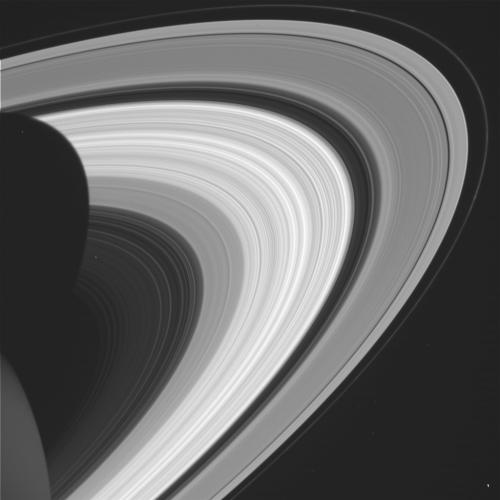 View of Saturn's rings